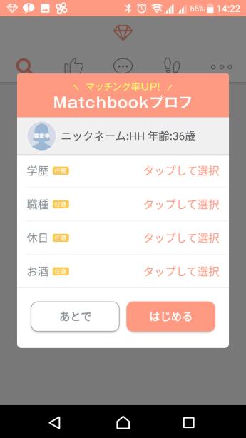 マッチブックプロフィール1
